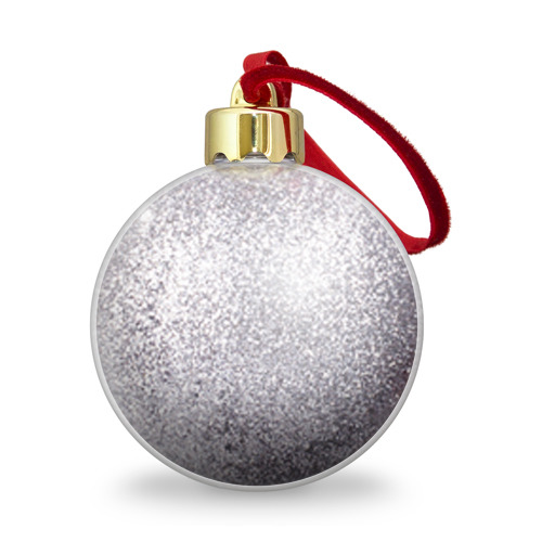 Ёлочный шар с блестками  Фото 02, Майор, белый герб РФ