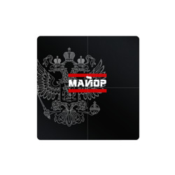 Майор, белый герб РФ