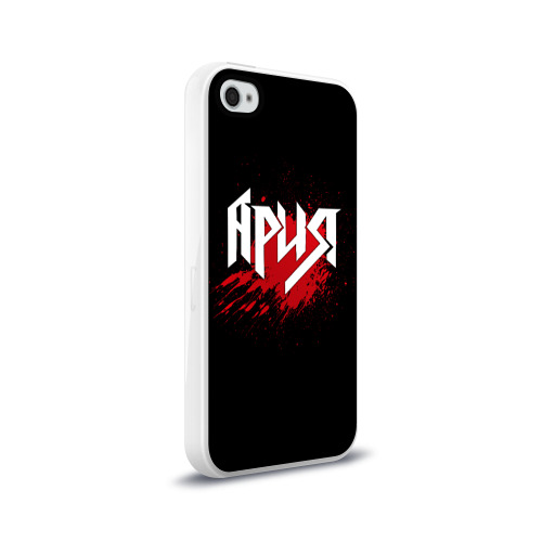 Чехол для Apple iPhone 4/4S силиконовый глянцевый Ария Фото 01
