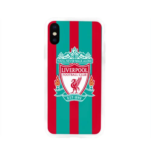 Чехол для Apple iPhone X силиконовый глянцевый  Фото 01, Liverpool FC
