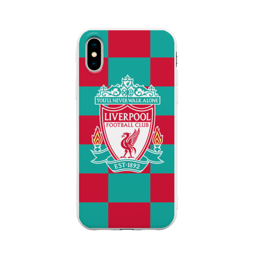 Чехол для Apple iPhone X силиконовый матовый ФК Ливерпуль