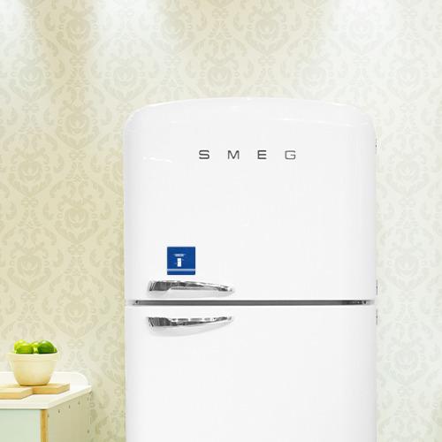 Магнит виниловый Квадрат  Фото 03, Защитник холодильника