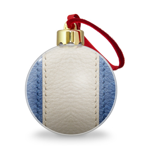 Ёлочный шар с блестками  Фото 01, Blue and White