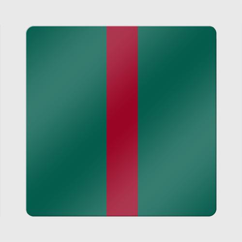 Магнит виниловый Квадрат  Фото 01, Зеленый/бордовый