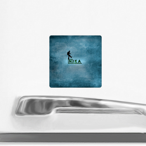 Магнит виниловый Квадрат  Фото 02, Ника в стиле Доктор Хаус