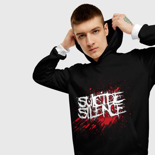 Мужская толстовка 3D Suicide Silence