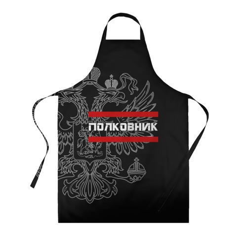 Фартук 3D Полковник, белый герб РФ