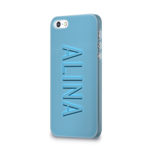 Чехол для Apple iPhone 5/5S 3D  Фото 03, Alina-azure