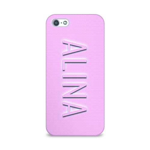 Чехол для Apple iPhone 5/5S 3D  Фото 01, Alina-pink