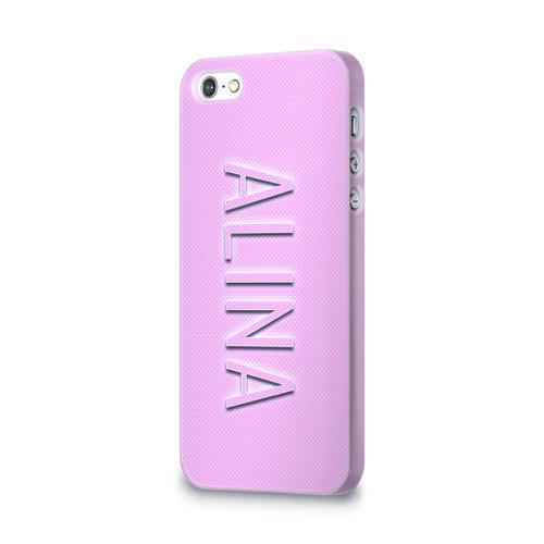 Чехол для Apple iPhone 5/5S 3D  Фото 03, Alina-pink