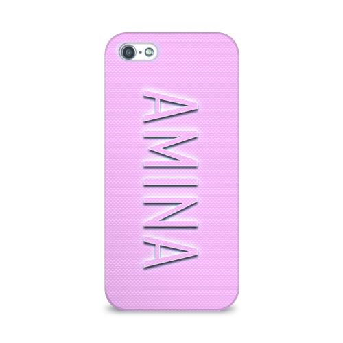 Чехол для Apple iPhone 5/5S 3D  Фото 01, Amina-pink