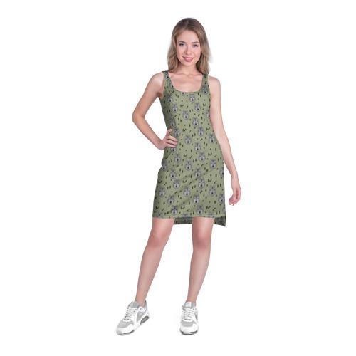 Платье-майка 3D  Фото 03, камуфляж - волки