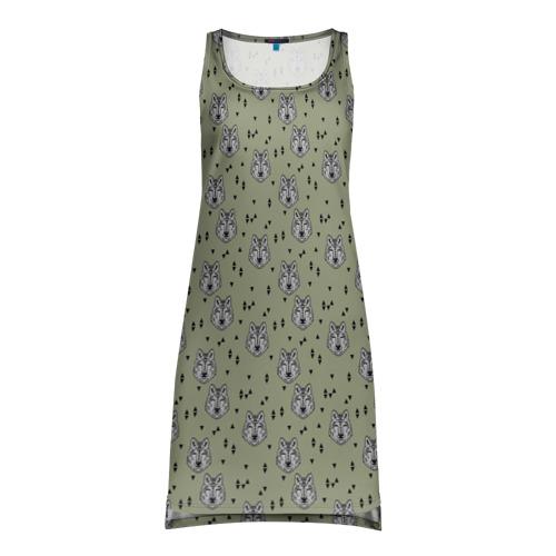 Платье-майка 3D  Фото 01, камуфляж - волки