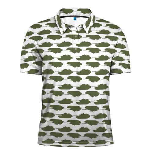 Мужская рубашка поло 3D  Фото 01, Камуфляж танки-2