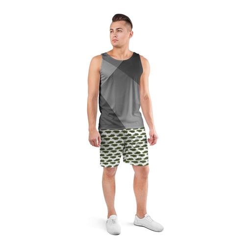 Мужские шорты 3D спортивные  Фото 04, Камуфляж танки-2