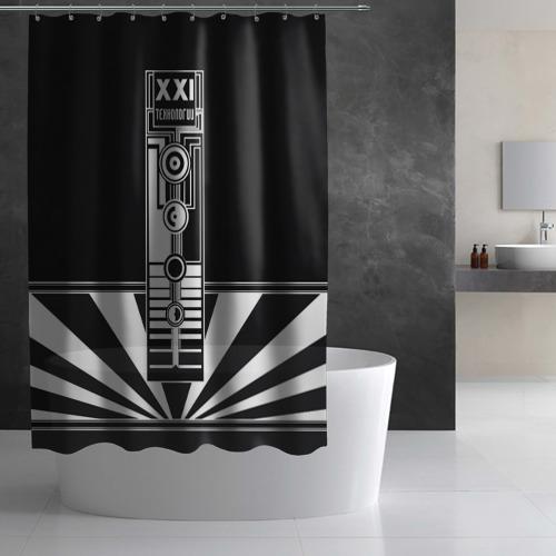 Штора 3D для ванной  Фото 02, технологии XXI