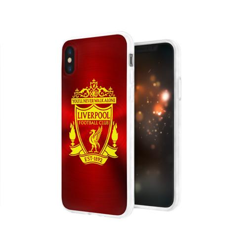 Чехол для Apple iPhone X силиконовый глянцевый  Фото 03, ФК Ливерпуль