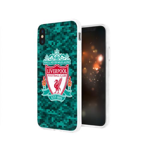 Чехол для Apple iPhone X силиконовый глянцевый  Фото 03, Liverpool FC