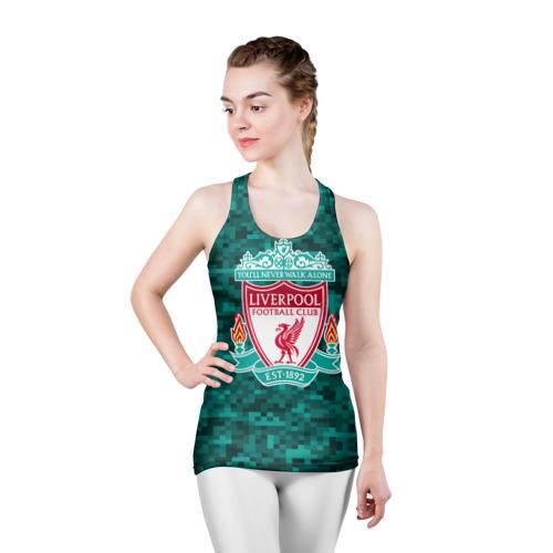 Женская майка 3D спортивная  Фото 03, Liverpool FC