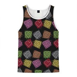 Разноцветные сердечки