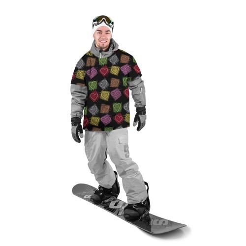 Накидка на куртку 3D  Фото 03, Разноцветные сердечки
