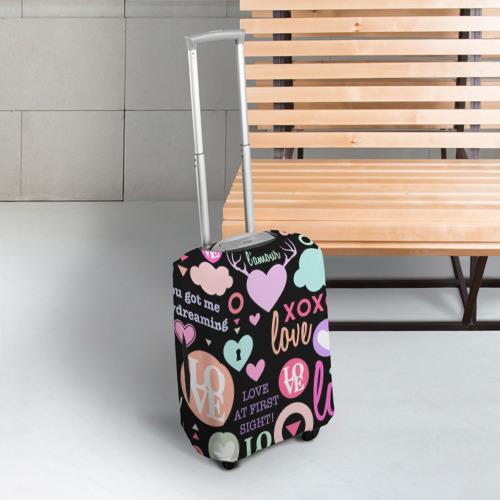 Чехол для чемодана 3D  Фото 03, Любовь на разных языках