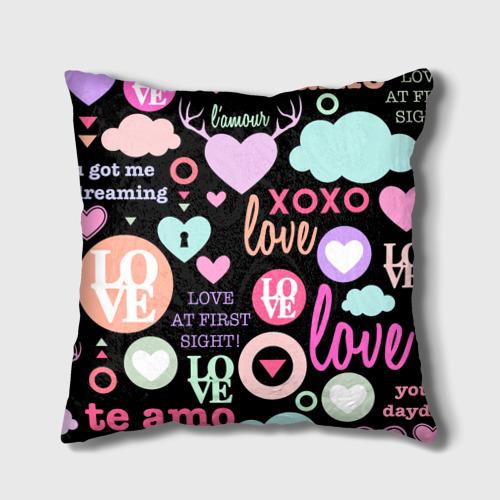Подушка 3D  Фото 02, Любовь на разных языках