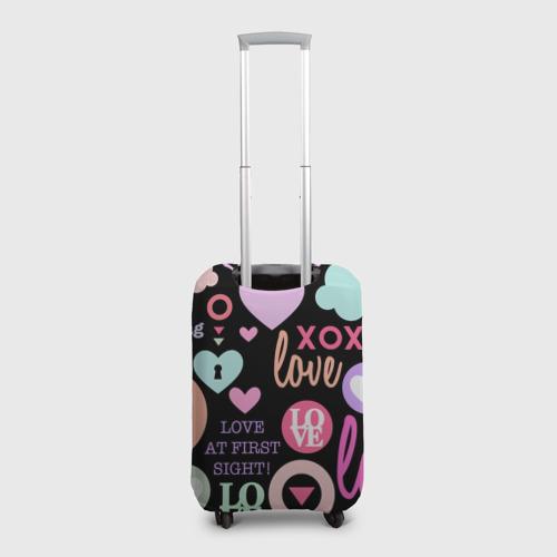 Чехол для чемодана 3D  Фото 02, Любовь на разных языках