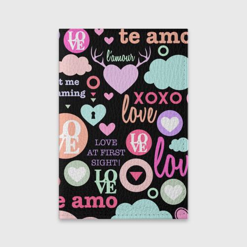 Обложка для паспорта матовая кожа  Фото 01, Любовь на разных языках