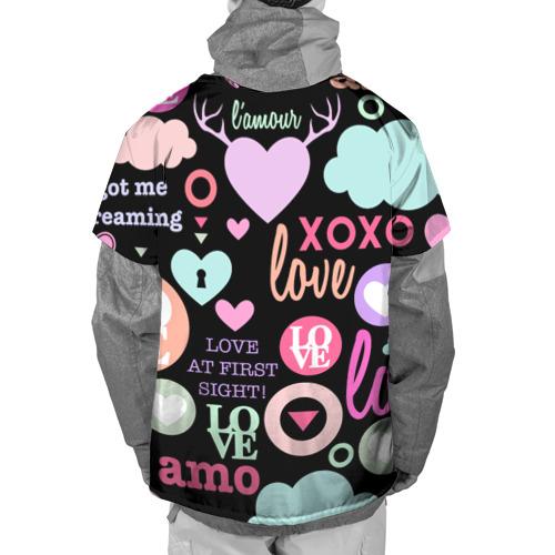 Накидка на куртку 3D  Фото 02, Любовь на разных языках