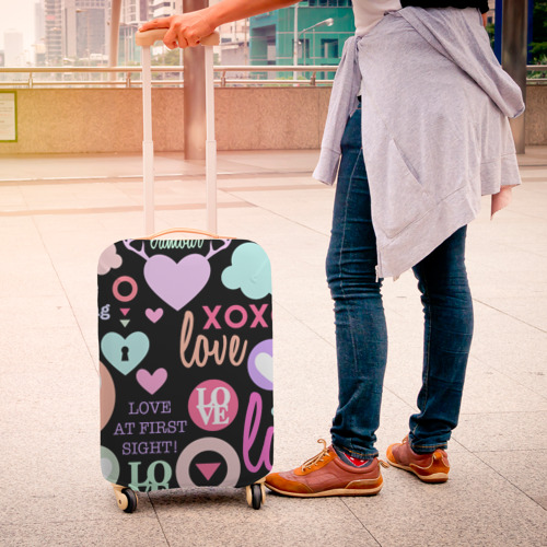 Чехол для чемодана 3D  Фото 04, Любовь на разных языках