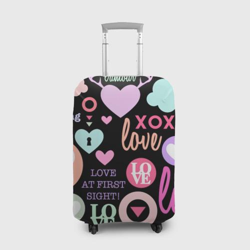Чехол для чемодана 3D  Фото 01, Любовь на разных языках