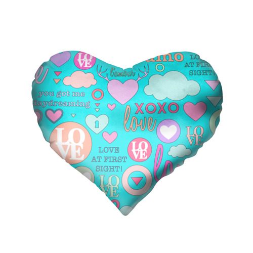 Подушка 3D сердце  Фото 02, I Love you