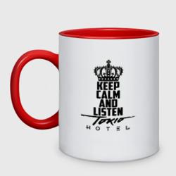 Keep calm and listen Tokio Hotel - интернет магазин Futbolkaa.ru
