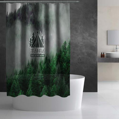 Штора 3D для ванной Сибирь