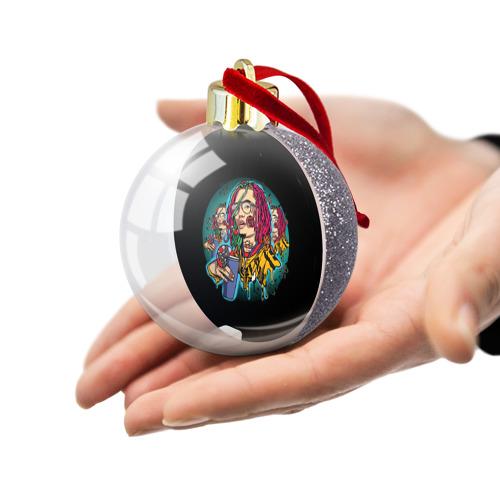 Ёлочный шар с блестками  Фото 03, Lil Pump - 110