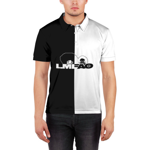 Мужская рубашка поло 3D  Фото 03, Keep calm and listen LMFAO