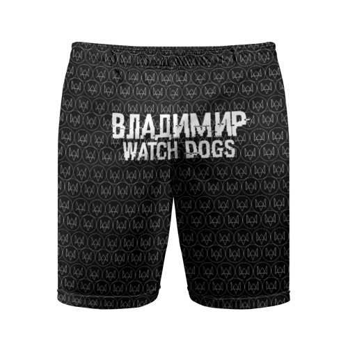 Мужские шорты 3D спортивные Владимир Watch Dogs