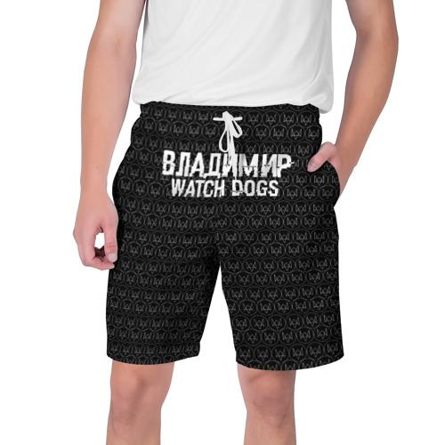Мужские шорты 3D Владимир Watch Dogs