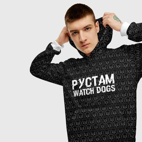Мужская толстовка 3D Рустам Watch Dogs Фото 01