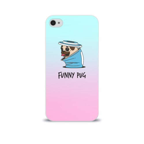 Чехол для Apple iPhone 4/4S soft-touch  Фото 01, Funny PUG
