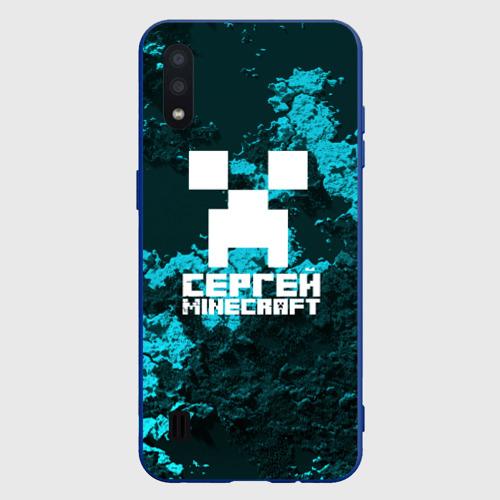 Чехол для Samsung A01 Сергей в стиле Minecraft Фото 01