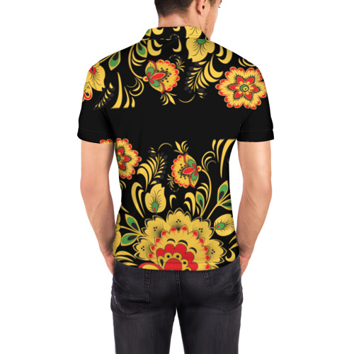 Мужская рубашка поло 3D  Фото 04, Макс, роспись под хохлому