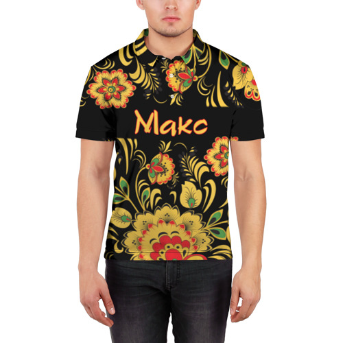 Мужская рубашка поло 3D  Фото 03, Макс, роспись под хохлому