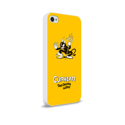 Чехол для Apple iPhone 4/4S soft-touch  Фото 02, Cuphead