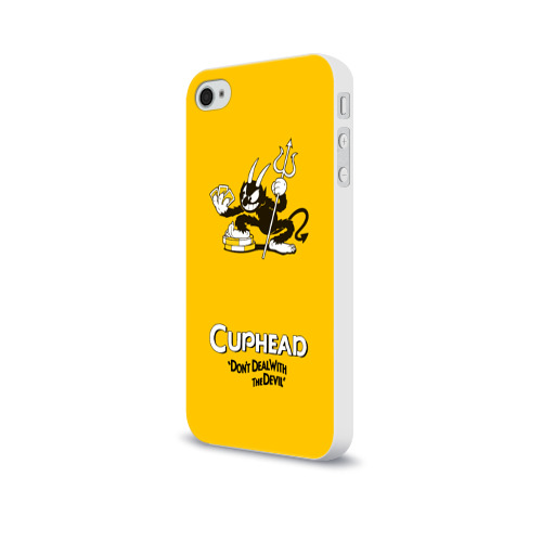 Чехол для Apple iPhone 4/4S soft-touch  Фото 03, Cuphead