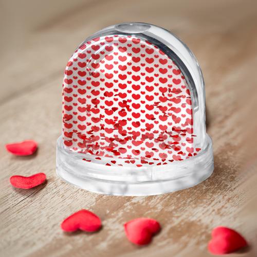 Водяной шар  Фото 03, Красные сердечки