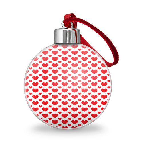 Ёлочный шар  Фото 01, Красные сердечки