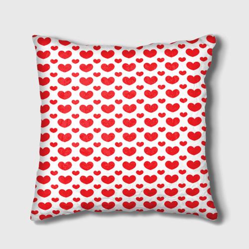 Подушка 3D  Фото 02, Красные сердечки