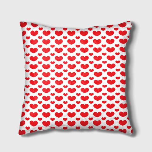 Подушка 3D  Фото 01, Красные сердечки